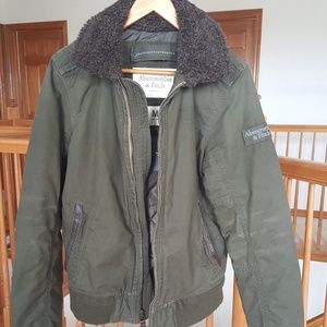 Abercrombie & Fitch Vintage Bomber Jacket NWT